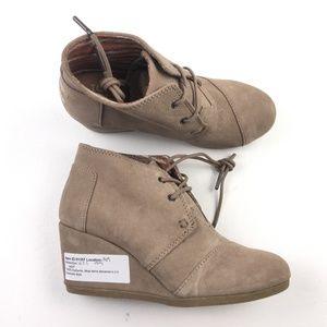 TOMS Womens Desert Wedge Boots DR01357